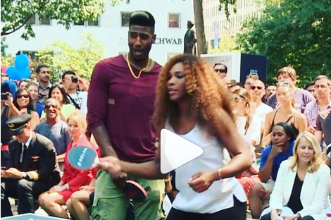 Iman Shumpert Battles Serena Williams in Ping Pong