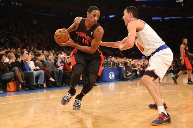 Is Demar DeRozan a Building Block or Trade Bait for Toronto Raptors in 2013-14?