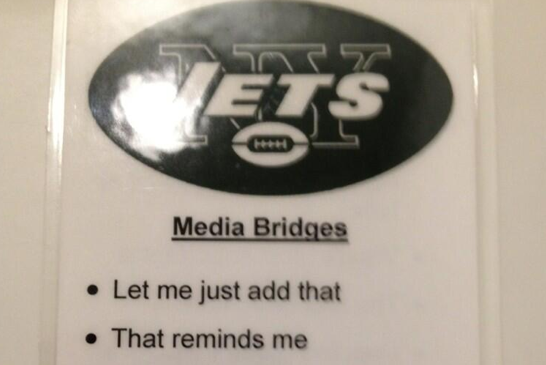The Jets Are Slowly Turning Their Players into Robots with 'Media Bridge' Cards