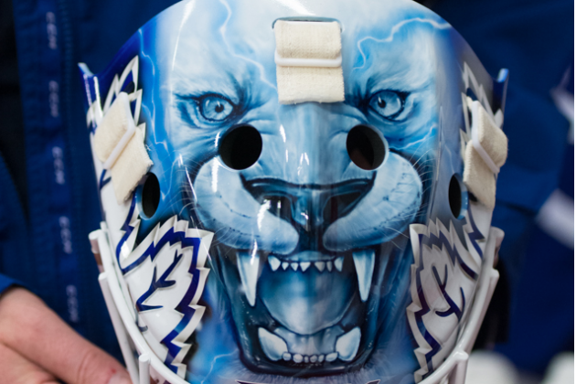 Jonathan Bernier's New Toronto Maple Leafs Mask