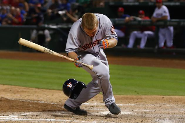 Astros' Max Stassi, Hidden-Ball Trick Victim, Gets Hit in Face with Fastball