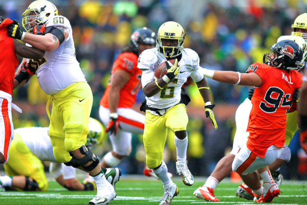 Oregon's De'Anthony Thomas, Baylor's Lache Seastrunk and the Art of the Cutback