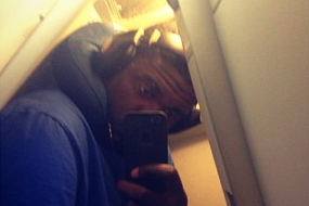 Roy Hibbert Barely Fits in an Airplane Bathroom