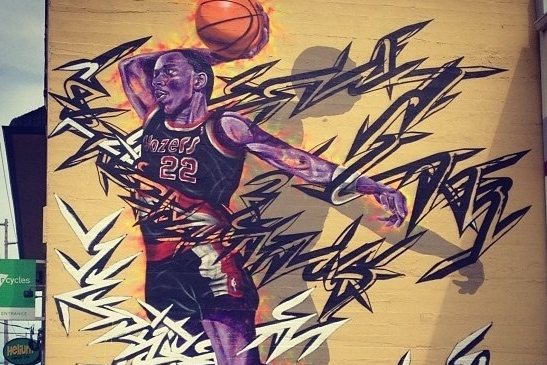 Clyde Drexler Mural in Portland Is Pretty Incredible