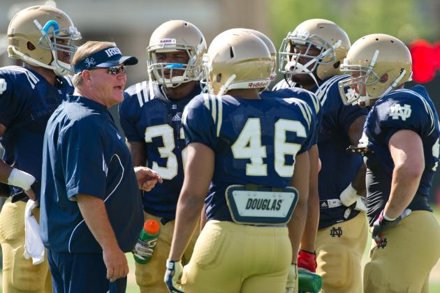 Notre Dame Football: Brian Kelly Talks Captains, Depth Chart, Injuries
