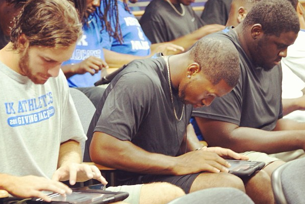 Photo: Kentucky Football Players Get Surprised with IPads