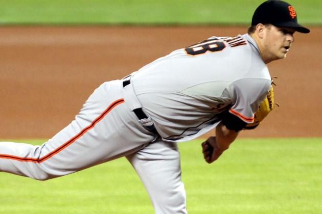 Matt Cain Exits Start After Taking Comebacker off Throwingarm