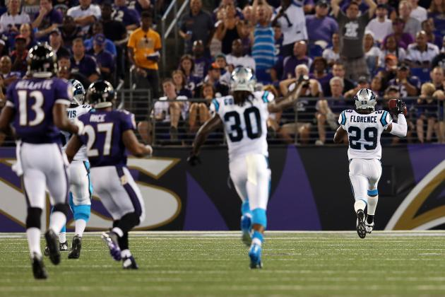 Defense Carries Carolina Panthers Past Baltimore Ravens, 34-27