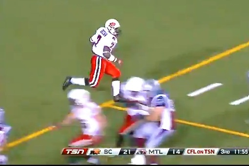 CFLer Takes Kick 125 Yards to House