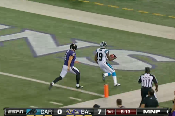 Ted Ginn Jr. Returns Punt 74 Yards for Touchdown vs. Baltimore Ravens
