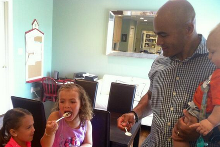 Photo: Jamal Mayers' Family Gets Breakfast in a Special Cup