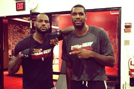 LeBron, Oden Begin Training Together