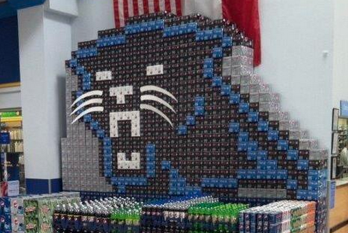 Walmart Display Represents the Carolina Panthers Hard
