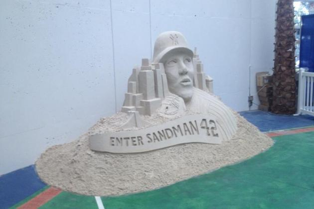 Rays Pay Tribute to Mariano Rivera with Sweet 'Enter Sandman' Sand Sculpture