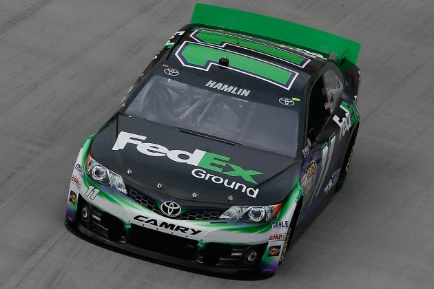 Hamlin Wins Pole for Irwin Tools Night Race
