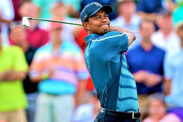 Tiger Woods at Barclays 2013: Day 2 Recap and Twitter Reaction