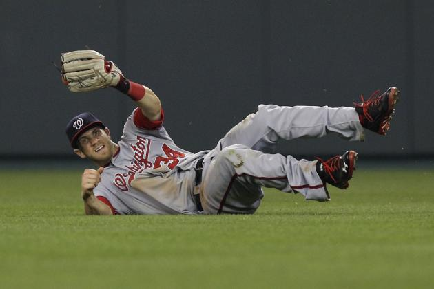 Watch Bryce Harper Make Diving Grab to Preserve Nationals Win