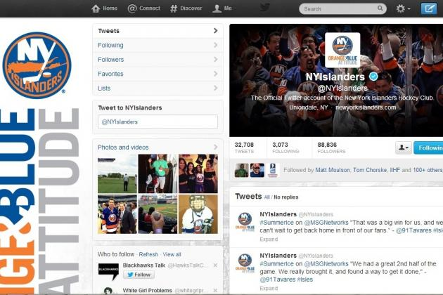 New York Islanders: Twitter Accounts Every Fan Needs to Follow in 2013-14