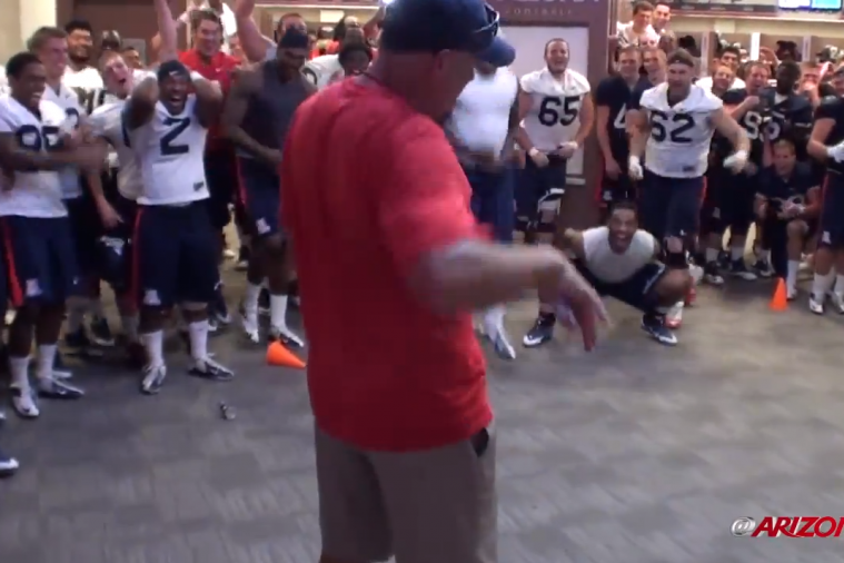 Arizona Head Coach Rich Rodriguez Steals the Show in the Team's Dance-Off