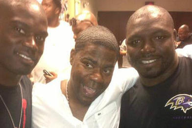 Ravens Get Surprise Visit from Tracy Morgan