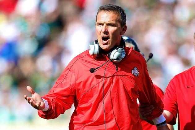 Urban Meyer Reportedly Made Scouts Change Blue Shirts at Ohio State Practice