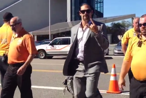 New York Jets QB Mark Sanchez Walks off Bus, Remains High on Swag