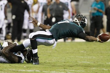 Familiar Mistakes Plague Vick vs. Jaguars