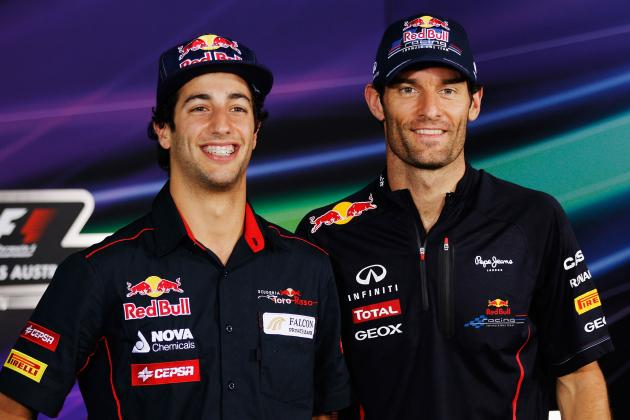Mark Webber Announces Daniel Ricciardo as Red Bull Racing Replacement Driver