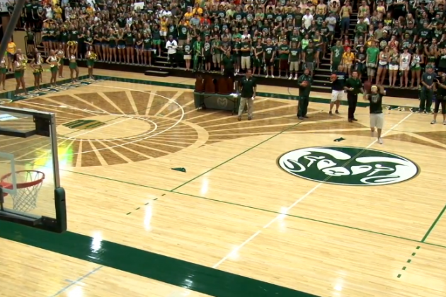 Colorado State Student Hits Half-Court Shot to Win Free Tuition for a Year