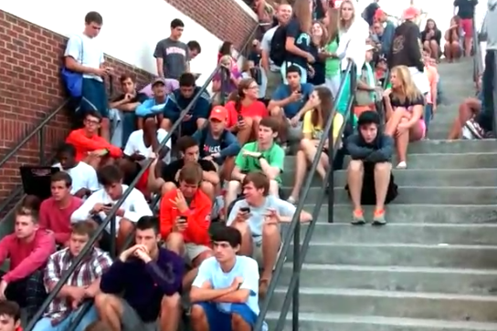 Video: Students Waiting 164 Hours in Line for Tickets, Chant Cadence Count