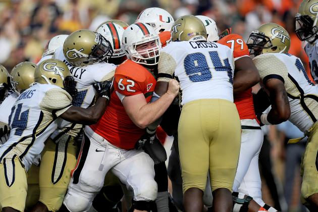 Huge, Veteran O-Line Biggest Advantage on Miami Hurricanes'...