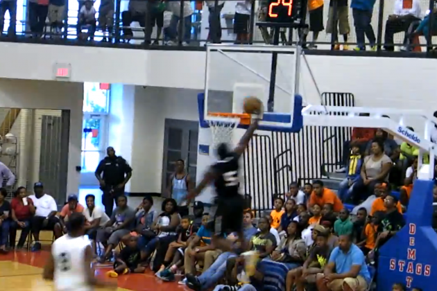 NBA Rookie Victor Oladipo Strips Kevin Durant and Dunks at the Goodman League