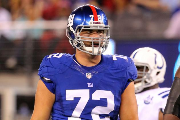 Giants Rotate Offensive Line Yet Again, Adding James Brewer into Mix
