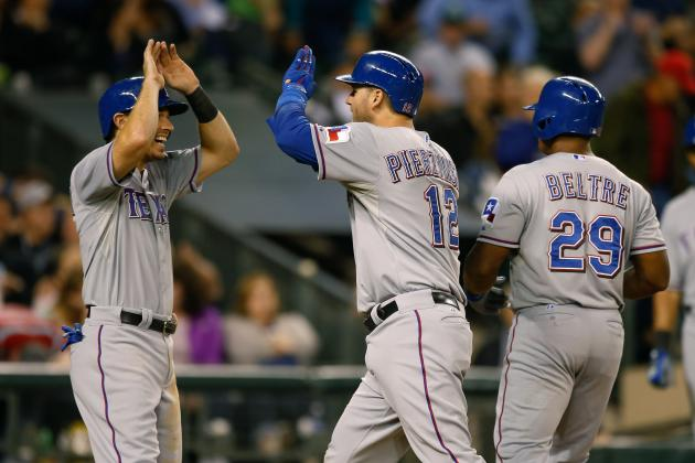 Late Home Runs from A.J. Pierzynski and Mitch Moreland Lead Rangers
