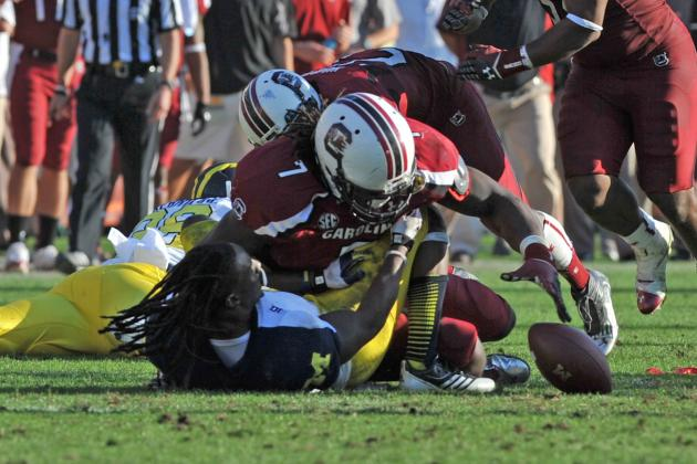 North Carolina vs. South Carolina: How Tar Heels Can Neutralize Jadeveon Clowney