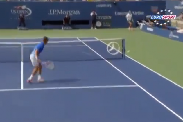 Nadal Hits Absurd Slice Shot