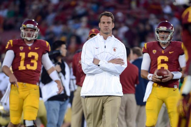Using Two QBs Adds to Scrutiny of USC Coach Lane Kiffin