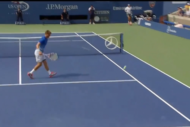 Rafael Nadal Hits the Shot of the US Open on the First Day