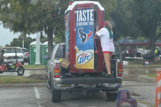 Texans Fan Tailgating with Her Own Porta-Potty Is Both Disgusting and Impressive
