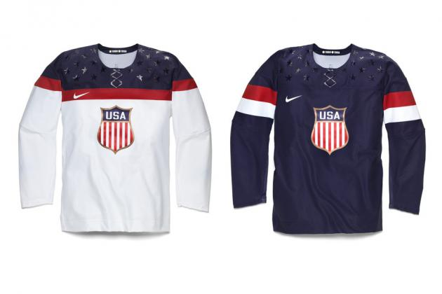 Nike Unveils USA's 2014 Olympic Hockey Jerseys