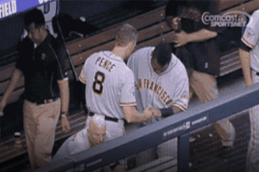 San Francisco Giants Pablo Sandoval and Hunter Pence Have an Adorable Handshake
