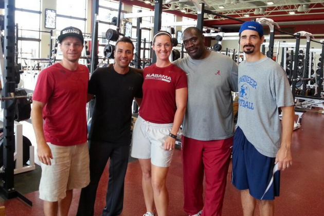 Backstreet Boys Visit Alabama Crimson Tide Weight Room