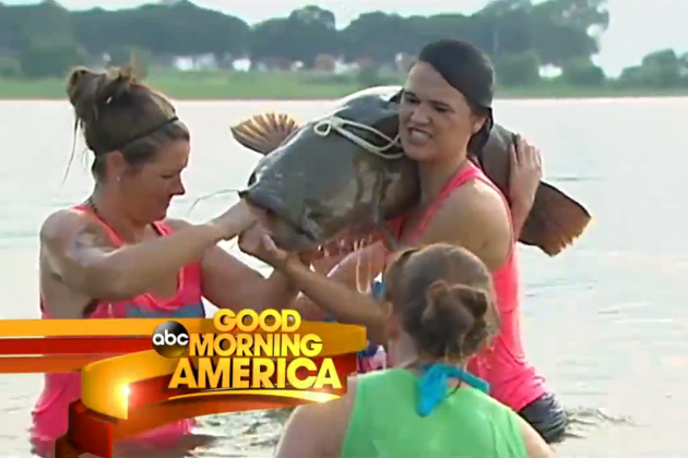 The 'Bare Knuckle Babes' Make Bare-Handed Fishing Look Easy