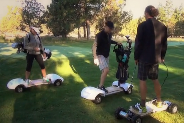 The Golf Board Lets You Travel a Golf Course Like a Snowboarder or Surfer