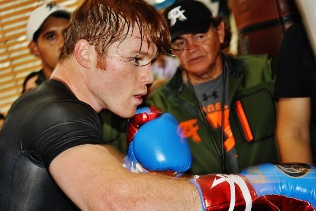 Photos: Canelo Grinds Hard at Media Workouts