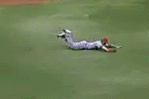 Angels' C.J. Wilson Does a Face-Plant on Tropicana Field Turf