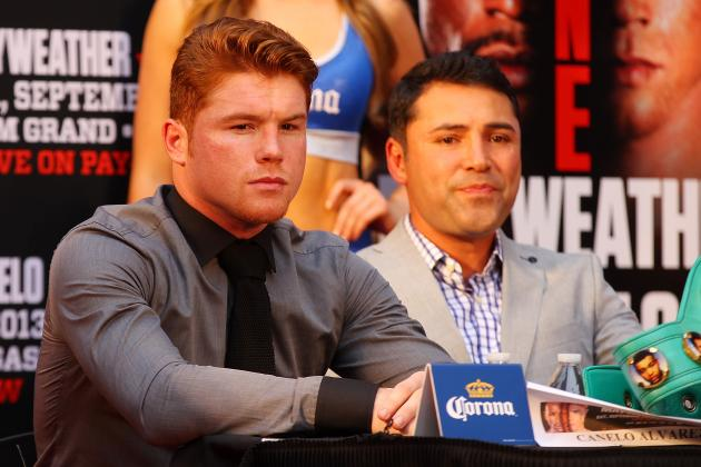 De La Hoya: I'll Be Surprised If Canelo Doesn't KO Mayweather Within 8 Rounds