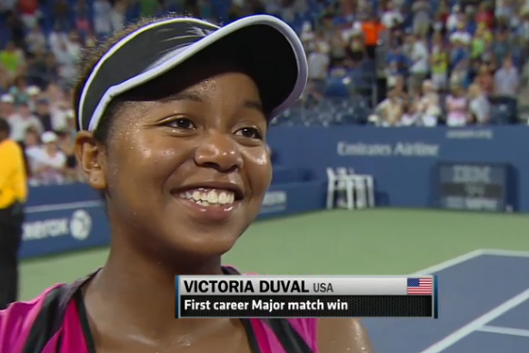 Victoria Duval Surprises, Upsets Sam Stosur in First Round