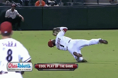 GIF: Diamondbacks SS Didi Gregorius Makes Insane Catch