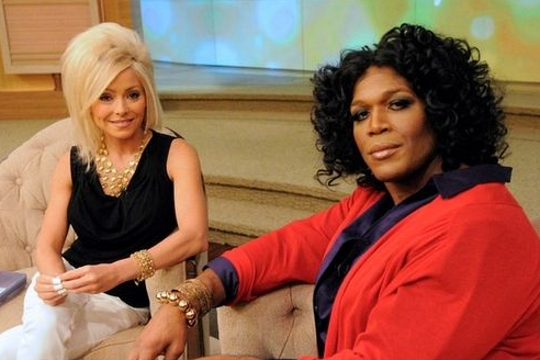 Michael Strahan Dresses Up in Drag as Oprah (Video)